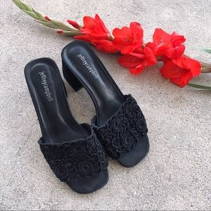 NWOB Jeffrey Campbell Floral Crochet Slides US 7